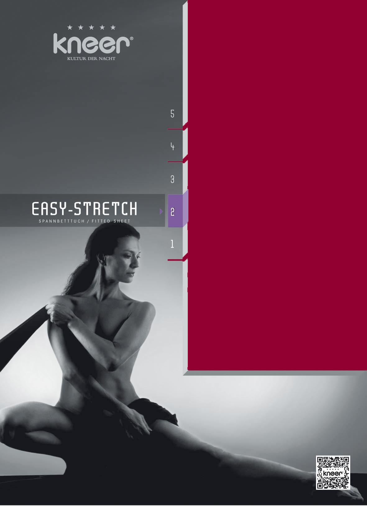 Spannbetttuch Q25 Easy-Stretch karmin