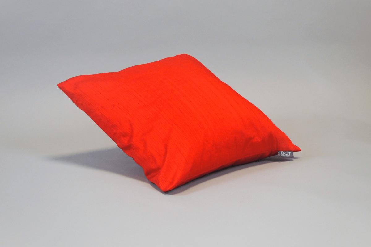 Seidenkissen Dupion Rot