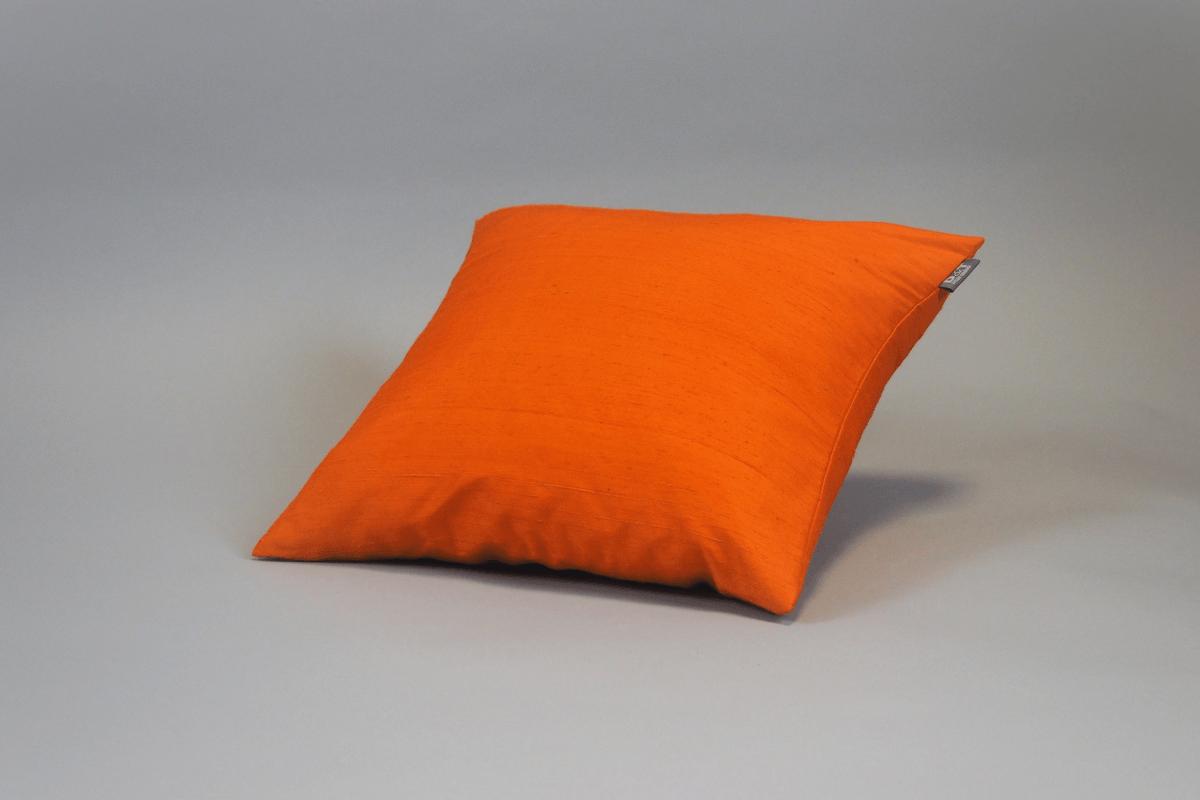 Seidenkissen Dupion Orange