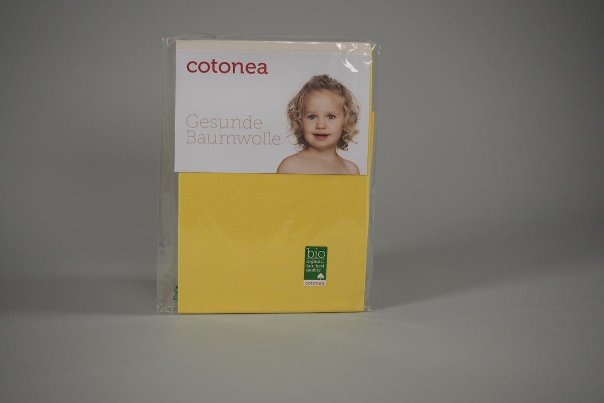 Bio-Kinderlaken Spanntuch gelb