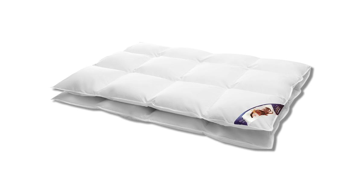 Bettdecke aus Daunen Silber warm